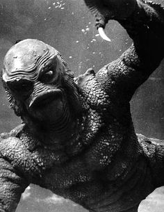 Gil man from Creature From the Black Lagoon. Best monster ever! Disney Movie Posters, Classic Movie Posters, Classic Horror Movies, Original Movie Posters, Horror Movie Posters, Film Posters, Scary Movies, Old Movies, Vintage Movies