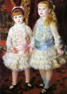 Two Sisters by Pierre Auguste Renoir ~ 1881 ~ Pink and Blue