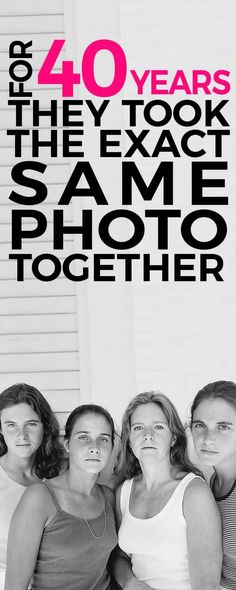 These sisters took the exact same photo every year for 40 years. Take a look at their transformation throughout their journey.