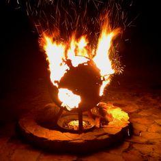 Wekiva island fire at night with fire!