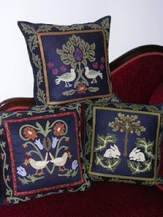 William Morris pillows from Michele Hill