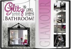 Glitz-ify your bathroom with Amanda!