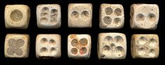 Antique stone dice, China