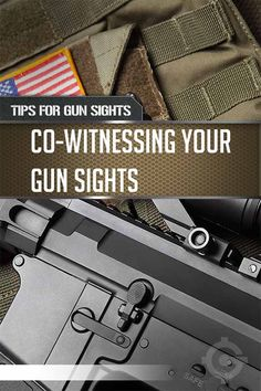 Co-witnessing is how a red dot aligns with iron sights to zero in your sights, which can help in a dangerous situation where you need to defend yourself. | https://guncarrier.com/tips-for-gun-sights-co-witnessing/
