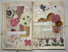 Toasted, Roasted and Ready to Serve: Don't hide in the shadows... an art journal page