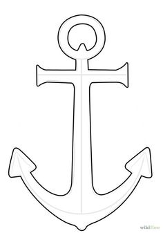 How to Draw an Anchor,Tricotin Eduardo An point is really a device, generally made from steel. Deco Pirate, Pirate Theme, Beach Crafts, Diy And Crafts, Paper Crafts, Wood Crafts, Nautical Baby, Nautical Theme, Anchor Stencil