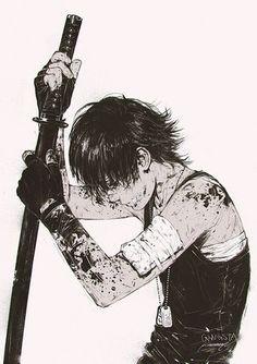 Nicolas Brown from anime Gangsta – fan art by Valentina Remenar Manga Anime, Fanarts Anime, Manga Boy, Anime Characters, Anime Boys, Iconic Characters, Otaku Anime, Dark Anime, Anime Katana