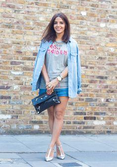 Lyla Loves Fashion iron maiden double denim