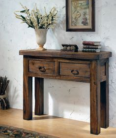 Entryway Tables, Furniture, Home Decor, Rustic Style, Home, Entrance Hall Tables, Occasional Tables, Rustic Furniture, Oak Tree