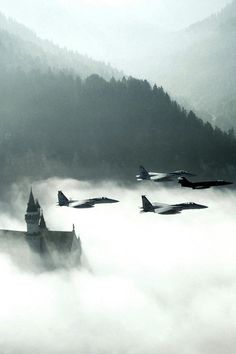 ..._Fighter jets over Neuschwanstein, Germany
