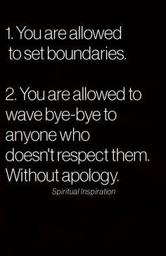 Boundaries...