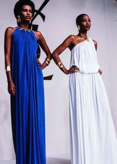 Legendary Beauty: Models Amalia and Mounia for YSL 90s Fashion, Retro Fashion, High Fashion, Vintage Fashion, Fashion Trends, Fashion 2020, Runway Fashion, Yves Saint Laurent Paris, Vintage Ysl