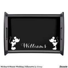Mickey Minnie Wedding Silhouette Serving Tray