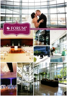 This venue is tucked away back in an office park and attached to a bank building. However, the Forum Conference & Event Center in Fishers, IN actually hosts weddings, social and corporate functions. #Indianapolis