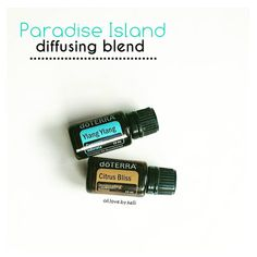 Paradise Island... Doesn't that sound dreamy? I tried out this diffusing blend the other day {2 drops Ylang-Ylang & 4 drops Citrus Bliss} and really liked it. It's light and fresh. And pretty much anything mixed with doTERRA's Citrus Bliss blend makes me happy. It's one of my faves! What's yours? #doterra #essentialoils #oils #diffusingblend