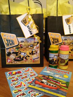 My little jcb party bags  From party bags for kids Find us on Facebook  07799434226 Crofty75@aol.com Http://partybagsforkids.weebly.com