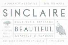 Sinclaire   A Classic Sans Serif by Josh O. on @creativemarket
