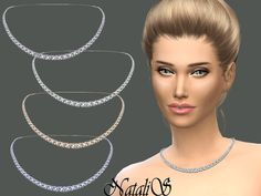 Bridal crystal necklace by NataliS at TSR • Sims 4 Updates