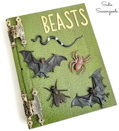 Painting books as Halloween spell book decor Diy Halloween Spell Book, Halloween Spells, Spooky Halloween, Halloween Crafts, Halloween Party, Halloween Decorations, Spooky Decor, Spooky Scary, Old Yearbooks