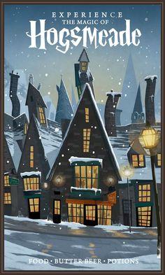 Experience the magic of hogsmeade - nicolas rix harry potter poster, harry potter theme, Fanart Harry Potter, Harry Potter Poster, Harry Potter Plakat, Harry Potter Artwork, Images Harry Potter, Harry Potter Drawings, Harry Potter Wallpaper, Harry Potter Aesthetic, Harry Potter Fan Art