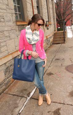 PInk blazer - So cute! penny pincher fashion via haute off the rack