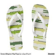 Green Alligator Flip Flops Running Sneakers, Running Shoes For Men, Mens Running, Sneakers N Stuff, Men's Sneakers, Custom Flip Flops, Green Sandals, Shoe Sites, Fashion Graphic