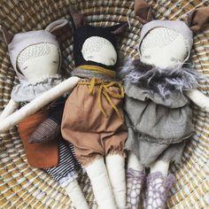 Wolf doll 'Lasse' handmade puppa cloth doll by poppyandowl on Etsy