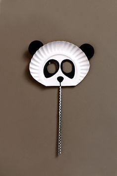 DIY Children's : DIY paper plate panda mask