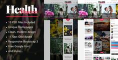 HealthMag - News & Magazine PSD Template by magentech  DescriptionHealthMag ¨C An exquisite PSD Template is a must-have template for dedicated to news/magazine websites. HealthMag suppo
