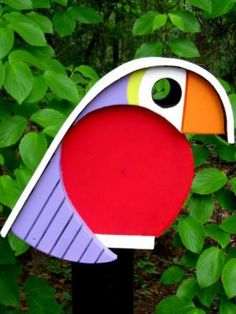Bird Houses Painted, Bird Houses Diy, House Painting, Diy Painting, Birdhouse In Your Soul, Modern Birdhouses, Bird Boxes, Animal House, Picture On Wood