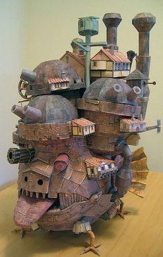 Movable Castle,3D paper mould