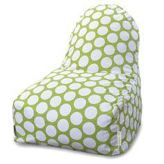 Hot Green Large Polka Dot Kick-It Chair