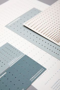 Stationery and business card with laser cut detail, designed by Raw Color for design studio De Intuïtiefabriek.