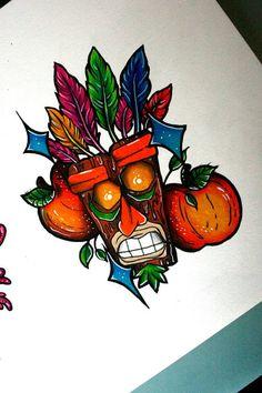005 crash bandicoot tattoos aku aku Tumblr tattoos