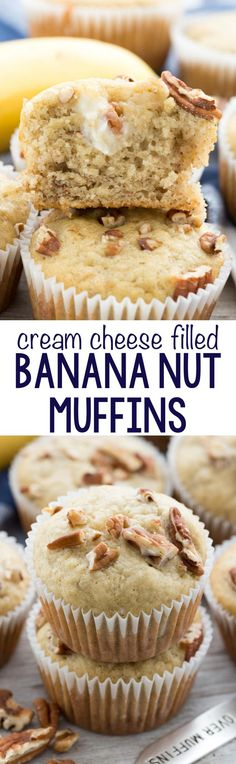 Cream Cheese Banana Muffins – this EASY banana muffin recipe is my favorite and it's FULL of a sweet cream cheese mixture! Everyone loves these muffins!