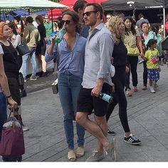 Michael Fassbender and Alicia Vikander at Broadway Market, Hackney, Saturday 24th September