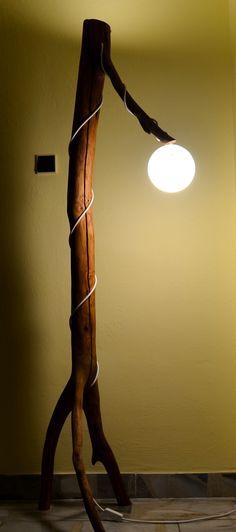 HáčkoDesign,Nympha, SvetlozRúbaniska, wood lamp