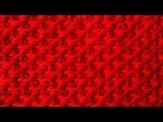 The Tunisian Ocean Stitch:: Tunisian Crochet Stitch #12 :: Right Handed - YouTube