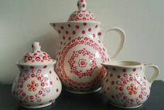 #koffiepot #roomstel #handgemaakt #stipjunkies #porseleinverf #pebeo #royaltalens #workshops