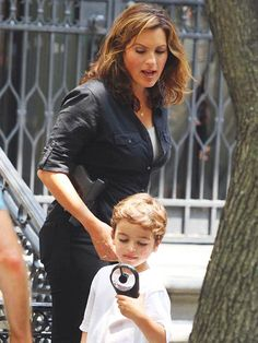 Mariska Hargitay & Her Son.