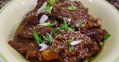 Browsing the meat section at the grocery store one day, I found some flanken-style short ribs which instantly made me think of Korean kalbi ...