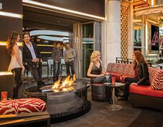 BAR 46    Find yourself in the middle of the action.    Experience our newest bar, offering live gaming and outdoor patio seating with a great view of the Fremont Street Experience.