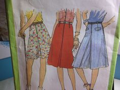 Groovy 1970s Culottes & Skirt Vintage Sewing Pattern Simplicity 8391 UNCUT Size 10 by MrsPsSewingEmporium on Etsy