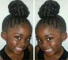 LANAYEL : Beautés Noires, Métisses et du Tout-Monde: Jolie coiffure protectrice pour petite fille