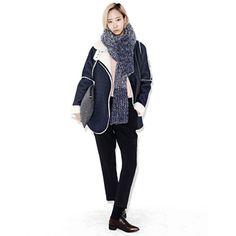 Blue Inner Wool Mustang Jacket