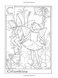 amazoncom flower fairies alphabet coloring book 9780723264965 cicely mary barker