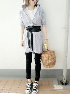 コマさん│CANAL JEAN Shirt dress Looks - WEAR