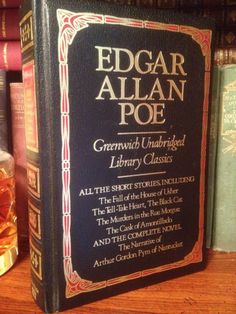 Complete Edgar Allan Poe Greenwich Unabridged Literary Classics Gilt Leather