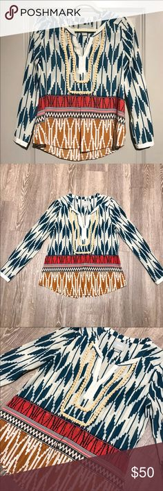 Anthropologie Maeve Printed Blouse Beautiful printed blouse from Anthropologie! Like new. Size 0 so best for an XS-S. Anthropologie Tops Blouses