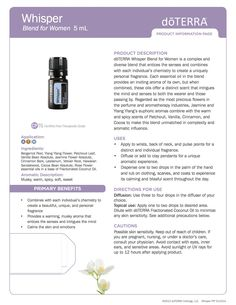 Whisper - doTerra essential oils product information